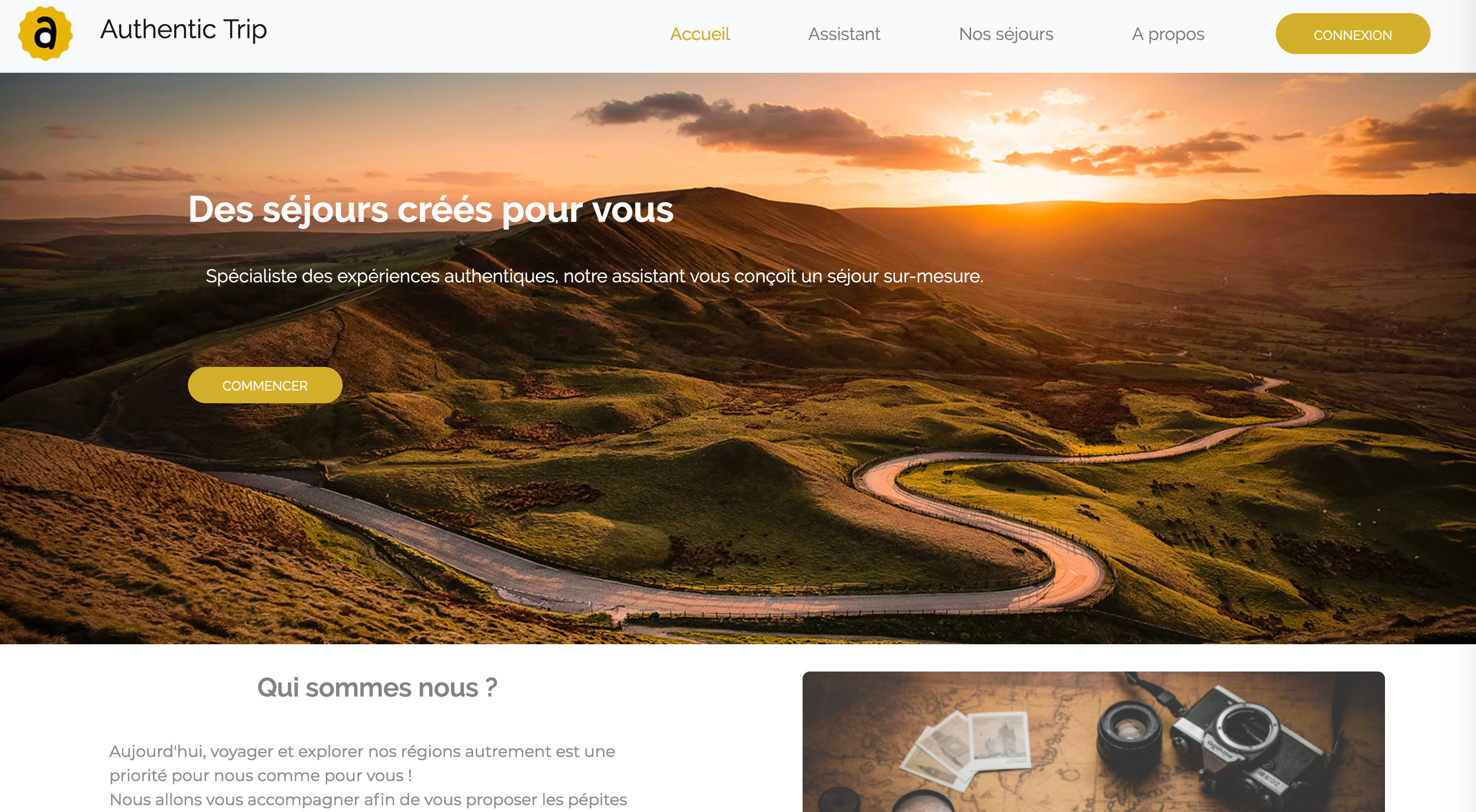Projet Authentic Trip Wild code school Bordeaux